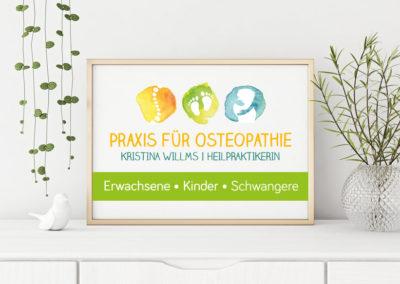 Kristina Willms Praxis für Osteopathie Logo